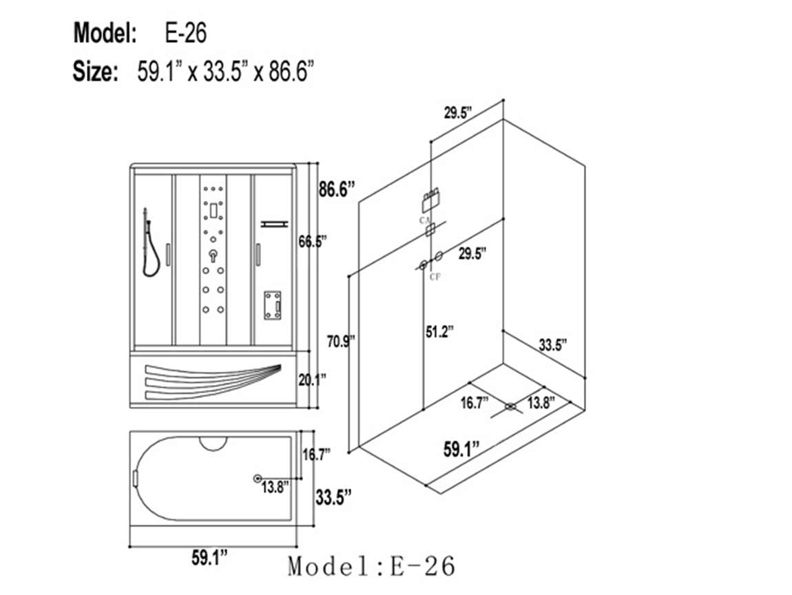 e-26 steam shower