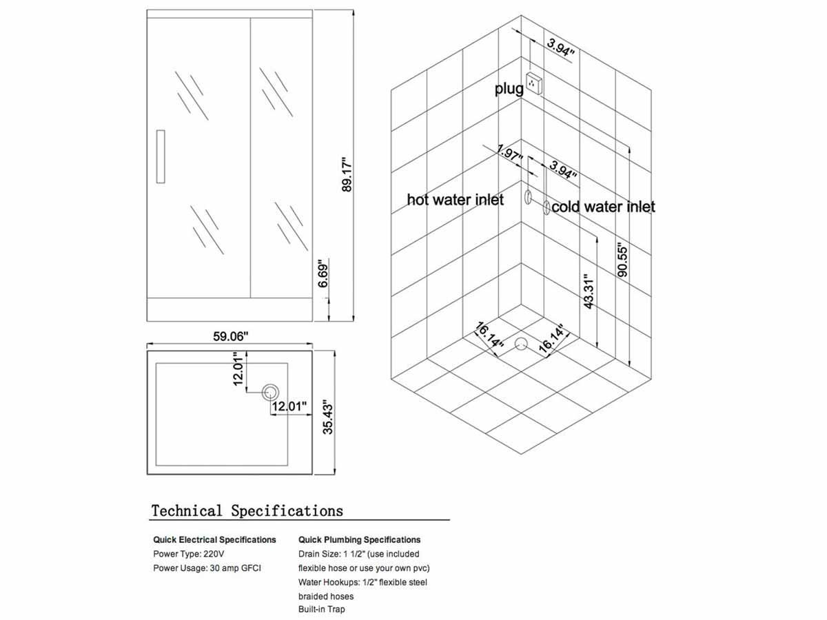 Marvelous G961 Steam Shower W/L Schematic